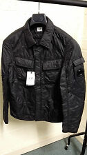CP Company Garment Dyed Quilted Overshirt Jacket Black BNWT