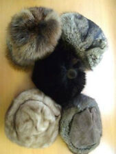 5 (LOT) MINT CANADIAN FUR HAT HATS CAP WOMAN WOMEN 2 MINK RACCOON BEAVER MUSKRAT