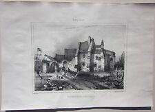 1838 AUTRY-ISSARDS Prieuré S.Maurice lito Durand Allier Desrosiers Souvigny