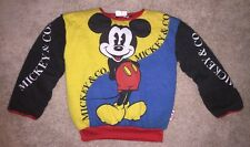 90s Vintage Mickey Mouse Sweatshirt Disney Cartoon Reversible Shirt All Over Hip