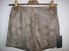 ZARA SNAKESKIN BROWN YELLOW BLACK SHORTS SIZE S