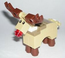 Genuine Lego 10245 Santa's Workshop Minifigure - Red Nose Reindeer Deer Rudolp