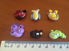 Smiley faced multicoloured bugs bee spider Novelty Buttons by Dress It Up 6551