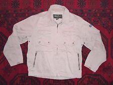 EDDIE BAUER 100% Cotton Brown Khaki CANVAS JACKET Casual Coat Size Men's LARGE