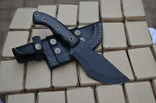 Custom Handmade Carbon Steel 1095 Powder Coating Full tang Tracker Knife