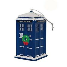 """Doctor Who TARDIS Police Box Christmas Tree Ornament - 4"""" x 2"""""""