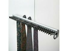 1 SLIDING WARDROBE DOOR TIE RACK BLACK AND SILVER HOLDS 32 TIES  P & P INC