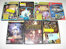 lot of 10 HIDDEN OBJECT SEEK & FIND (PC GAMES)  *NEW*  LOW PRICE +FREE SHIPPING!