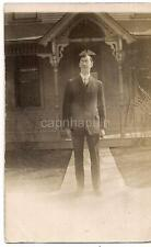 IDd Man By 2530 1/2 Howard Street House ST LOUIS MISSOURI PM1909 Photo Postcard