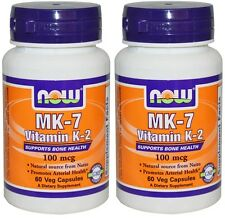 NOW Vitamin MK-7 K-2 100 mcg (2 Pack)