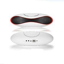 Wireless Bluetooth Stereo FM Speaker White For Smartphone Tablet Laptop Portable