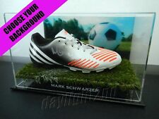 Signed MARK SCHWARZER Football Boot PROOF COA Socceroos World Cup 2017 Jersey