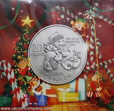 2013 Canada Uncirculated Silver $20 Coin By Royal Canadian Mint Santa