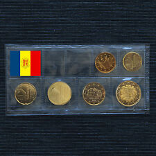 ANDORRA 6 MÜNZEN 5 CENT - 2 EURO KURSMÜNZE COIN COINS 3,85 € UNC.- BU ST 2014