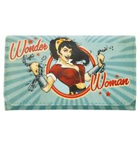DC Comics Bombshells Wonder Woman Flap Wallet Trifold Clutch New With Tags!