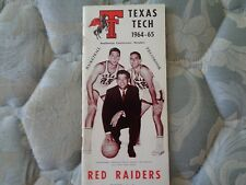 1964-65 TEXAS TECH RED RAIDERS BASKETBALL MEDIA GUIDE Press Book 1964 1965 AD
