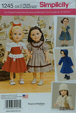 """Simplicity 1245 Sewing PATTERN for Vintage 18"""" American Girl DOLL CLOTHES"""