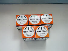 wiffle ball  regulation baseball size 5 pack lot in original boxes NOS
