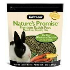 ZuPreem Food Nature's Promise Rabbit Pellets, 5 lb, New, Free Shipping