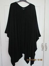 Ladies New Look black knitted loose sleeveless cardigan one size