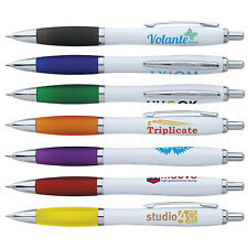 BLUE INK PENS PERSONALIZED IMPRINT PROMOTIONAL MARKETING GIVEWAY CHEAP HANDOUT
