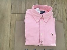 RALPH LAUREN LADIES L/S PINK HARPER SHIRT - SIZE Medium - RRP £95