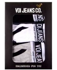 New Voi Jeans 3 Pack BOXER SHORTS IN GIFT BOX: Black ,White & Grey Size L RRP£25