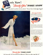 Negligee by John Norman IVORY SNOW Lingerie BEAUTY GLOW 1948 Magazine Ad