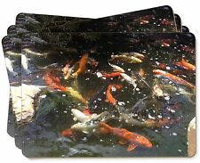 Swimming Koi Fish Picture Placemats in Gift Box, AF-K1P