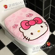 Pink Cute Hello Kitty Bow Toilet Seats & Lid Cover set