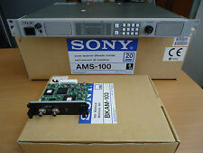 SONY AMS-100 AUDIO MONITOR SPEAKER UNIT WITH 2 SDI AUDIO DE-EMBEDDER MODULES-NEW