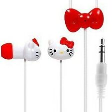 Hello Kitty 13309-IPH Earbuds w/ Mic (3.5mm) - Listen to Music & Take Calls
