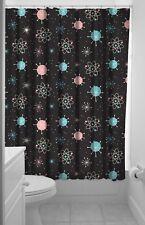 Sourpuss Black Mid Century Modern Retro Atomic Style Sputnik Shower Curtain
