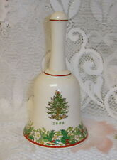 Spode Porcelain Christmas Tree Hand Painted Bell 2008