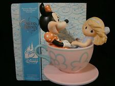 t Precious Moments-Disney-U Are My Cup Of Tea-Minnie Mouse w/Girl On Teacup Ride