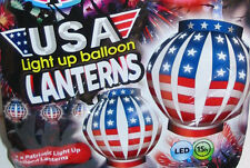 4 LOT illooms LED Light USA Balloon Lantern Patriotic Political Campaign Party