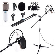 Condenser Microphone Mic Stand Tripod Pop Filter Shock Mount Vocal Recording Kit