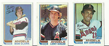VINTAGE 1982 TOPPS BASEBALL CARDS - CALIFORNIA ANGELS - MLB