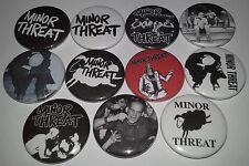 11 Minor Threat pin button badges 25mm punk rock DC Hardcore Dischord Ian Mackay
