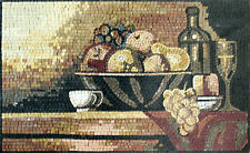 Kitchen Backsplash Fruit Basket Healthy Garden Design Home Marble Mosaic GEO1026