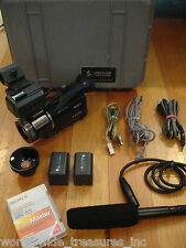 Sony HVR-A1U HD 1080i MiniDv Camcorder Wide Lens Pelican Case Microphone USB