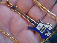 (M311-E) pick 1 of 6 colors RICKENBACKER Bass Guitar PENDANT NECKLACE Jewelry
