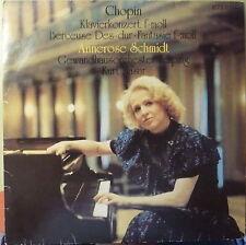 Chopin, Annerose Schmidt, Kurt Masur: Klavierkonzert f-moll  - Vinyl-LP