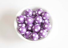 Purple Polka Dot 20mm Chunky Acrylic Beads 10 ct for Bubblegum Necklace