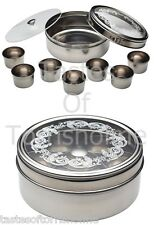 Kitchen craft acier inoxydable indien herb spice tin box Masala Dabba stockage set