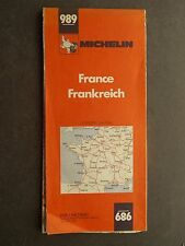 Michelin Map 989 France 1 cm to 10 km 1981