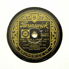 "LARRY CLINTON & HIS ORCHESTRA ""Ooh! Look-A There"" (E) BRUNSWICK 03862 [78 RPM]"