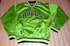 vtg 90s chicago BULLS neon GREEN starter JACKET pullover SHIRT xl L large JORDAN