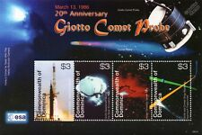 ESA GIOTTO Halley's Comet Spacecraft Probe Space Stamp Sheet (2006 Dominica)