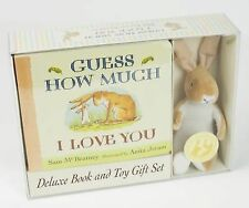 Guess How Much I Love You by Sam McBratney Set - Board Book & Stuffie c2015 NEW